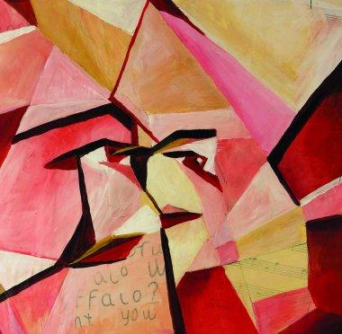 Original cubist painting