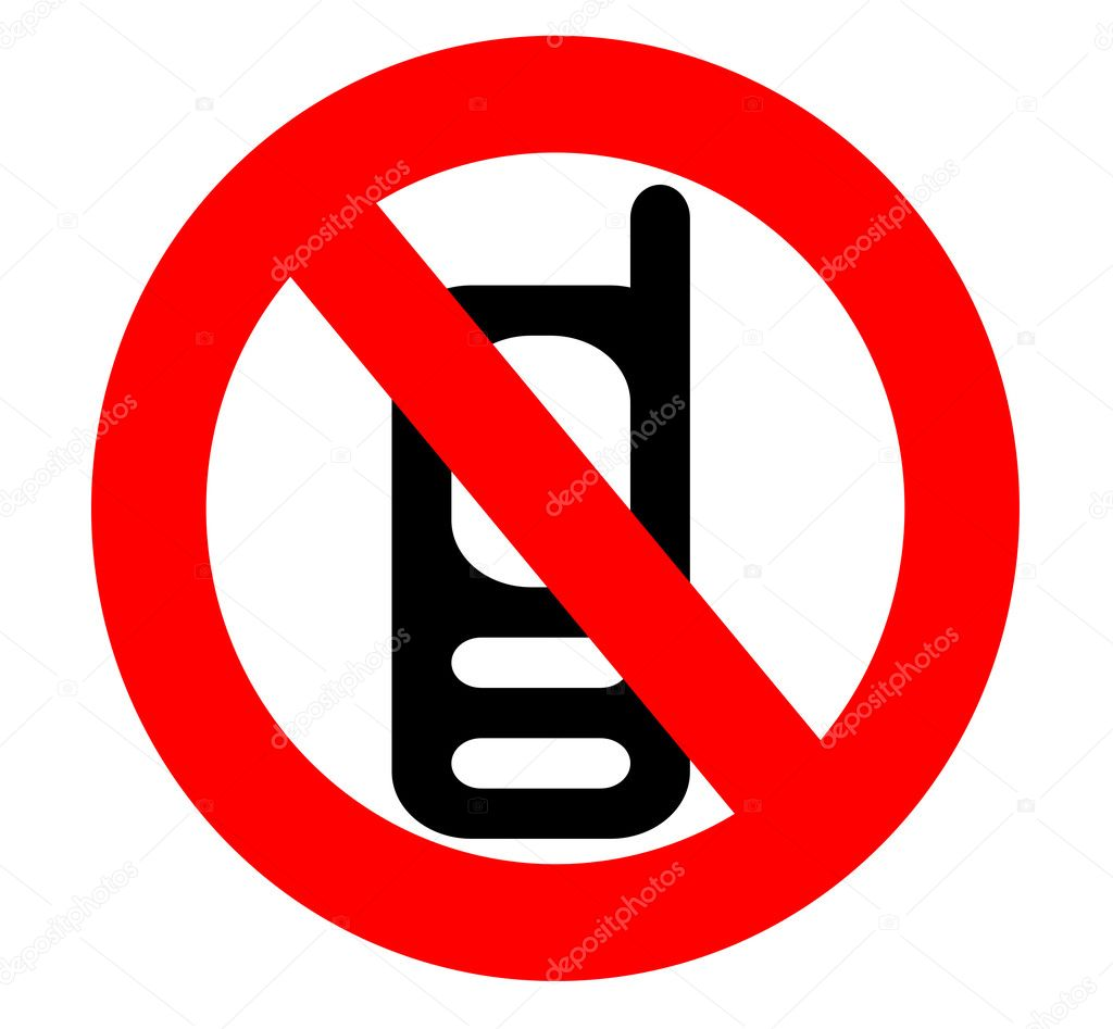 No Cell Phone Sign Isolated Stock Photo Dcwcreations 9095059
