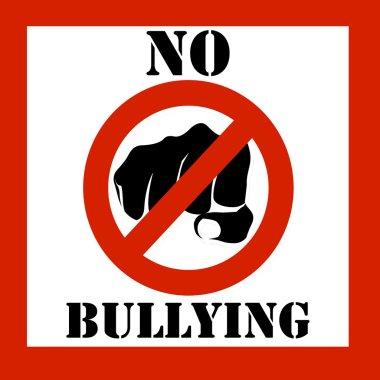 No bullying sign illustration