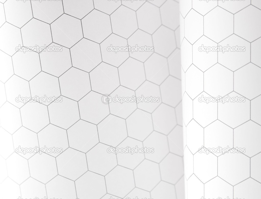 Sheets of hexagonal graph paper — Stock Photo © aliced #10172236