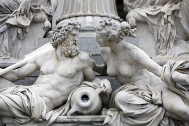 Danube and Inn, detail of Pallas-Athene fountain, Vienna