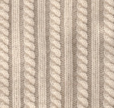 Knitted wool texture of white colour