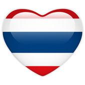Photo Thailand Flag Heart Glossy Button