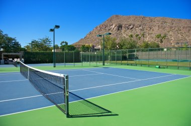 Resort's Blue Tennis Courts