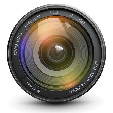 Camera photo lens, vector. stock vector