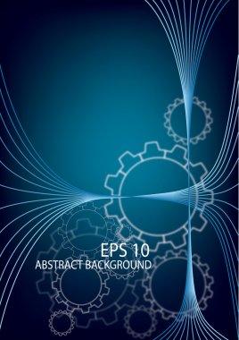 Abstact background mechanic vector illustration eps 10
