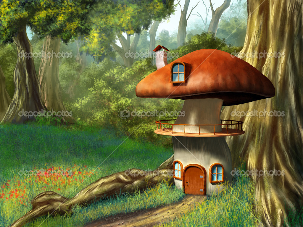 Фотообои Mushroom house