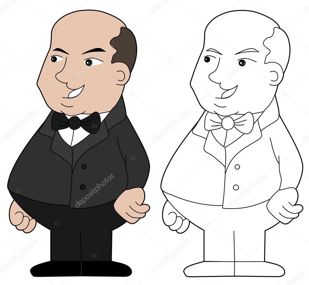 Dibujo Animado Del Hombre Gordo Vector De Stock