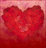 Fényképek Vörös Rózsa szíve piros grunge háttér szerelem vagy esküvői illustr