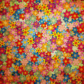 Fotografie Grunge colorful flowers background pattern vintage stily