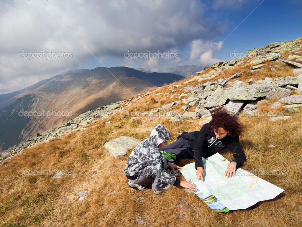Reading a map of the mountains
