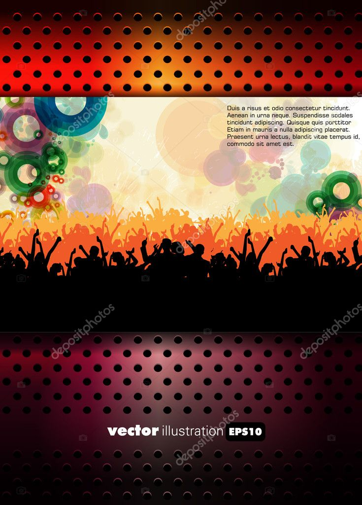 Music Event Background Vector Eps10 Illustration Stock Vector