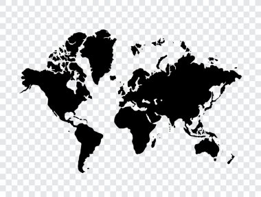 Map of world stock vector
