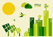 Fotografia illustrazione concetto di città sostenibile sviluppo
