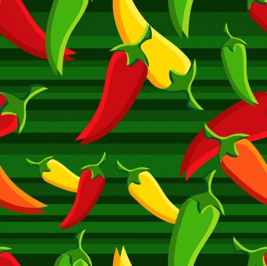 Chilli peppers pattern backgroun