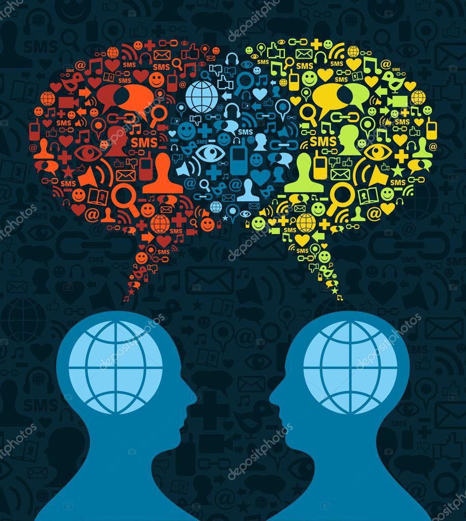 Social media brain communication