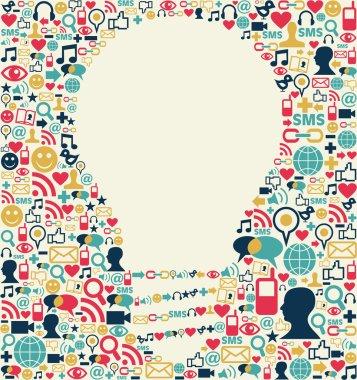 Social media idea texture