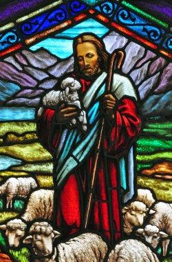 Jesus stained glass window