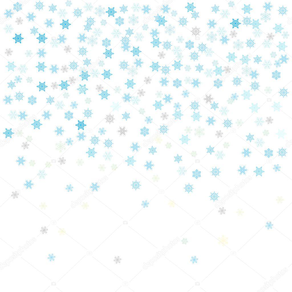 Snowflakes, vector illustration