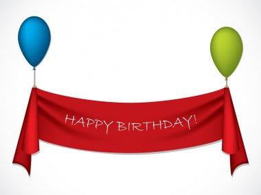 Happy birthday ribbon