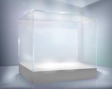 Glass-case. Vector illustration.