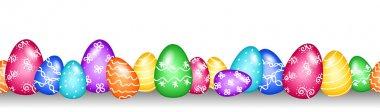 Seamless Easter egg border