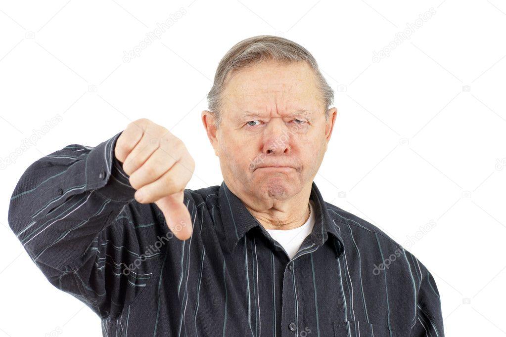 foto de Old man thumbs down Stock Photo © Mirage3 #9383541