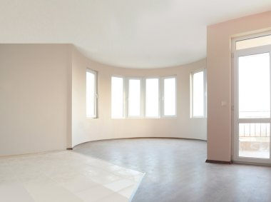 Empty newly painted room