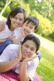 Photo Outdoor asian family