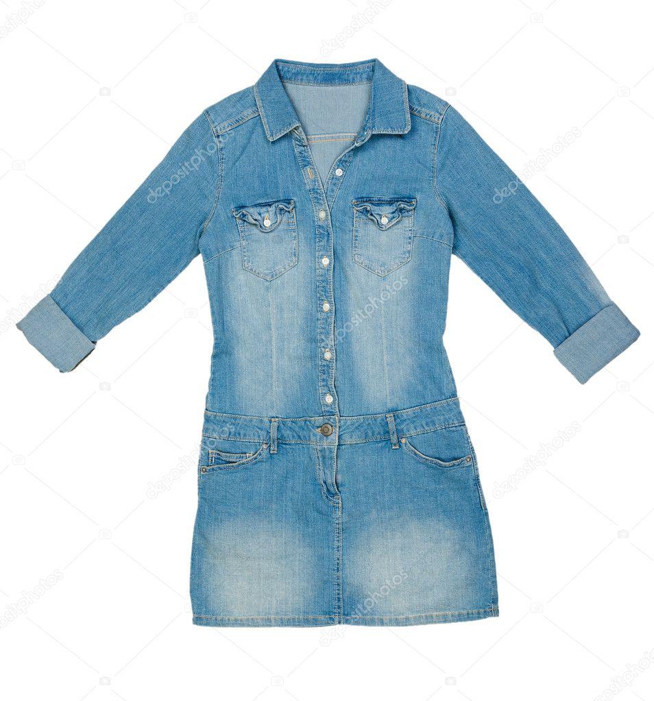 6b944d2caaa8 vestido de brim azul Womens — Stock Photo © Ruslan #10497792