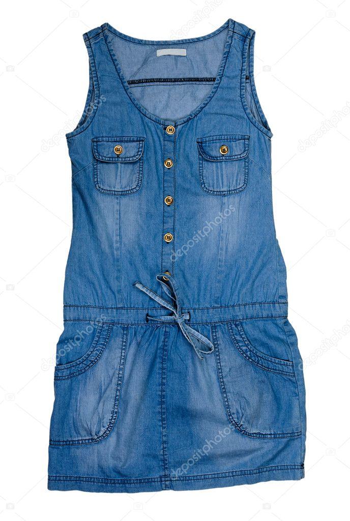 08ea5a11c263 vestido jeans — Stock Photo © Ruslan #9015568