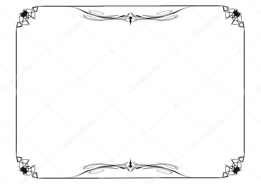 marco de diploma — Vector de stock © justaa #10281868