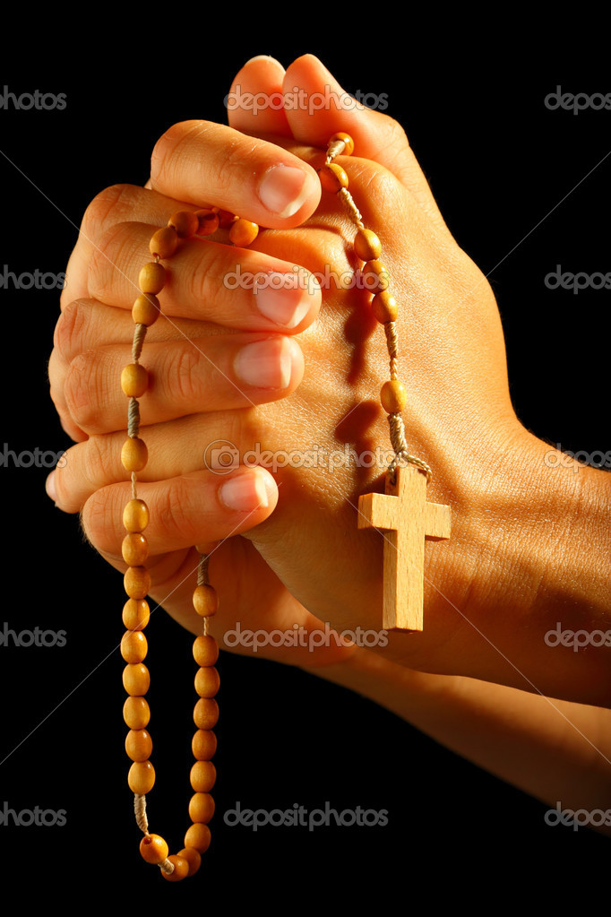 Картинка с крестом в руках
