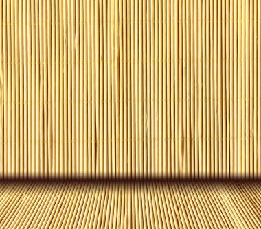 Traditional japanese natural bamboo interior background