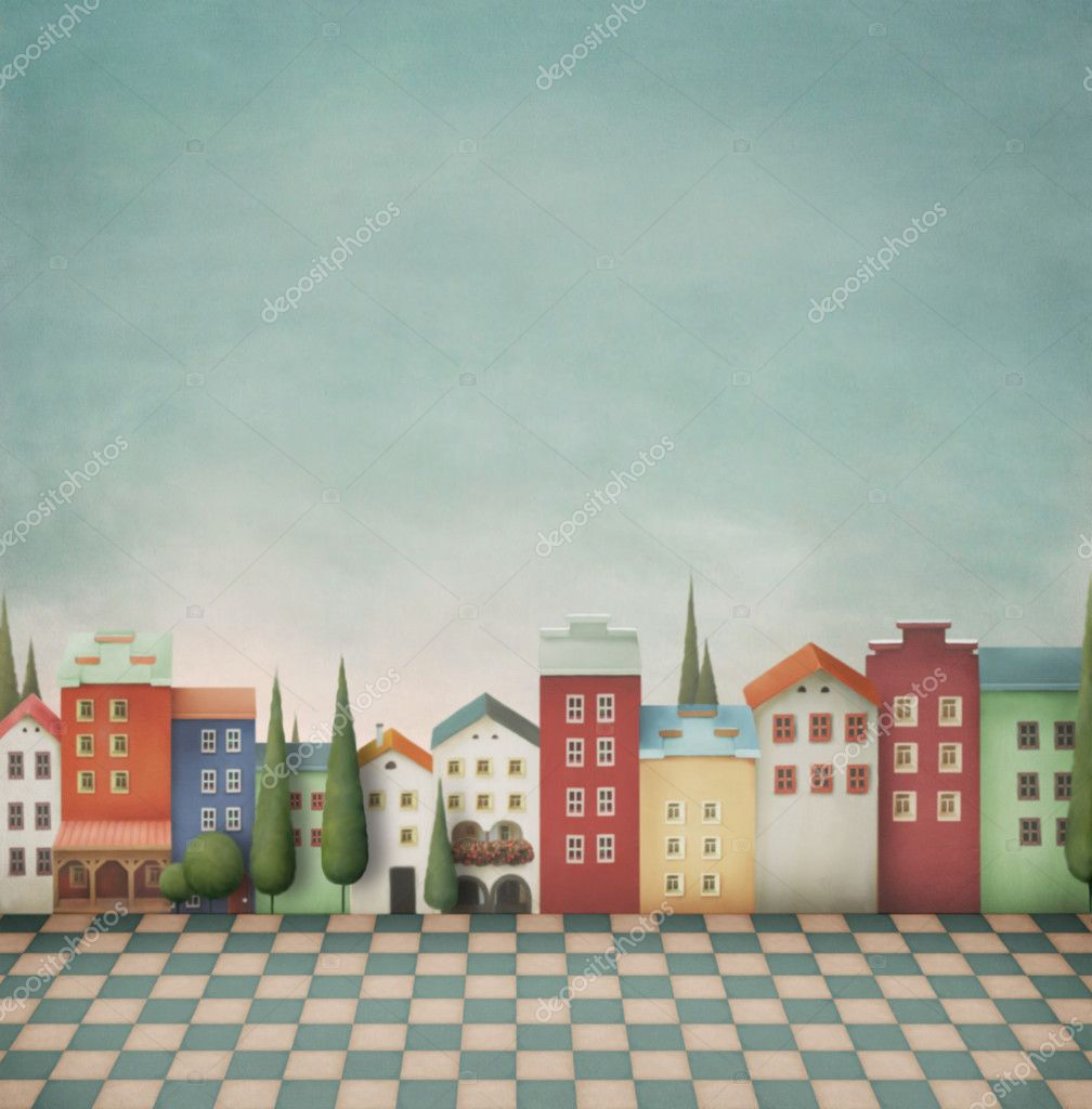 Colorful toy town.