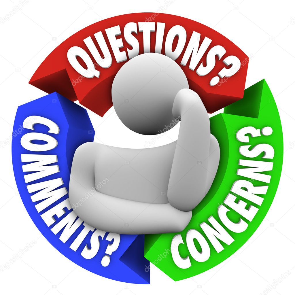 Questions comments concerns customer support diagram for Images comment pics