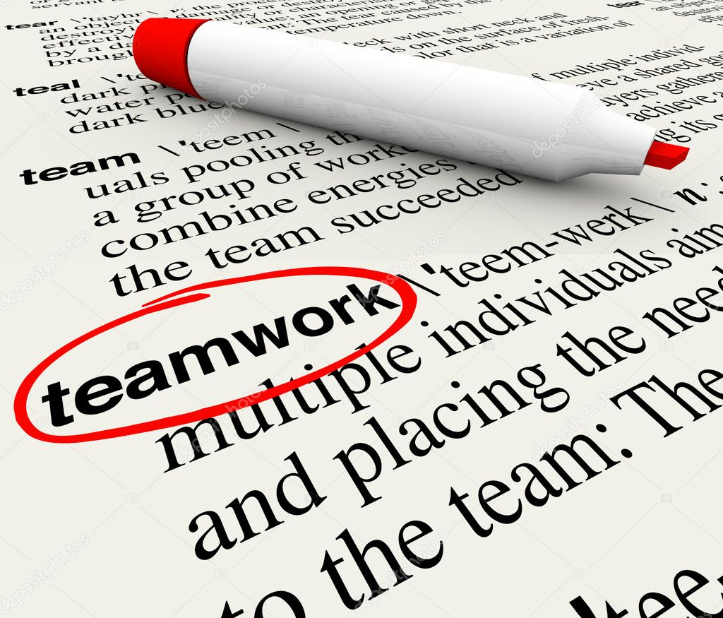 teamwork dictionary definition word circled — stock photo © iqoncept