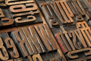 Antique letterpress type abstract
