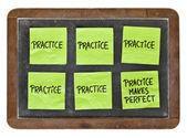 Praxis macht perfektes Konzept