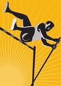 Leichtathletik Sportler Stabhochsprung Hochsprung retro