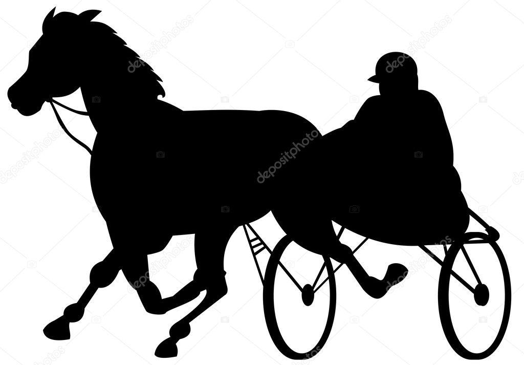 Horse And Jockey Harness Racing Stock Photo Patrimonio 8910743 Rh Depositphotos Com Art Rider Silhouette