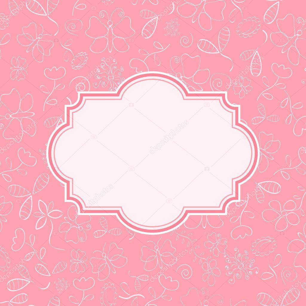 Cartão De Convite De Rosa Com Flores Vetores De Stock Nikifiva
