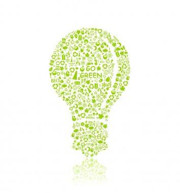 Green Bulb Silhouette