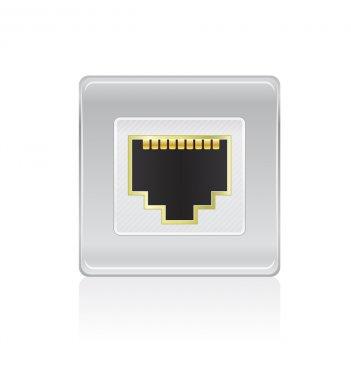 Shiny Network Port Icon