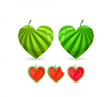 Watermelon In Form of Heart.