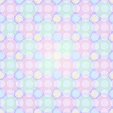 Seamless Light Pastel Pattern with Circles