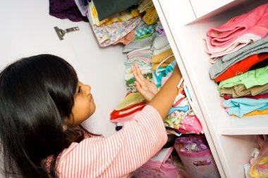 Little asian girl wardrobe