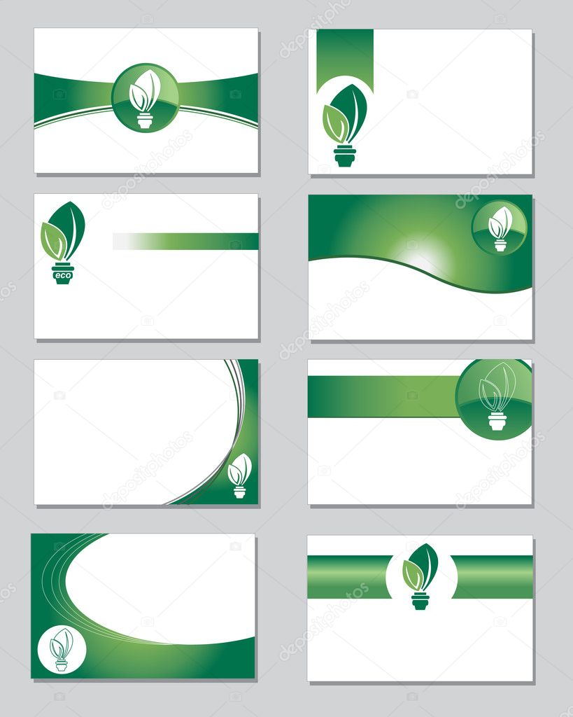 Environmental business cards — Stock Vector © janefromyork #10172985