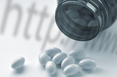 Online drugs concept