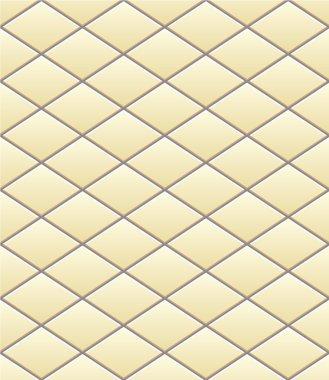 Vector pattern of diamonds beige tile